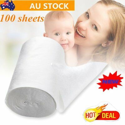 Baby Flushable Biodegradable Cloth Nappy Diaper Bamboo Liners 100 Sheet/Roll oR
