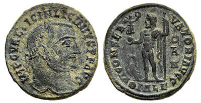 FORVM Licinius I 308-324 AD Billon Follis Scarce Jupiter Reverse