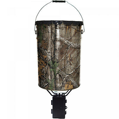 6.5 Gal Metal Pail Deer and Game Feeder Wildgame Innovations Realtree APG Camo