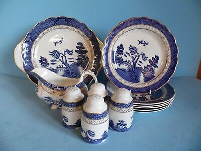 Royal Doulton Booths Real Old Willow TC 1126 Gold Rim - Sold Individually