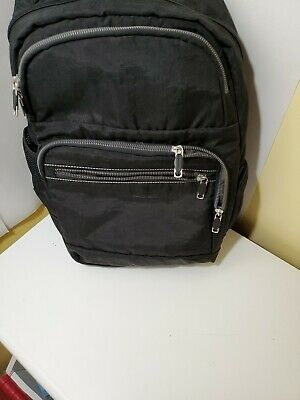 """Brookstone - Soft Black  Backpack Travel/Laptop 15"""" Great for Travel"""