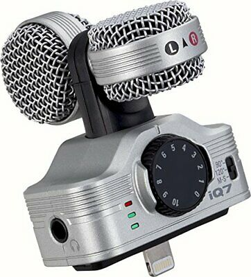 Zoom iQ7 Mid-Side Stereo Condenser Microphone for iPhone, iPad, and iPod Touch