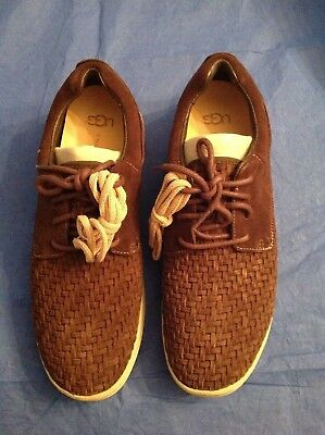 6b9355e00f6 UGG HEPNER WOVEN Luxe Sneaker Mens Size 10 M Stout Brown Weave Shoes ...