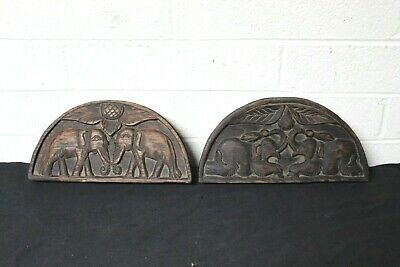 2 Opium Scales Elephants Carved box poppys carved into box lid