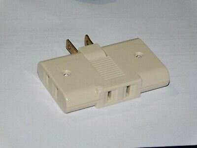 Vintage Art Deco leviton Prong Triple 3 Outlet Plug Adapter 125V folds TRAVEL #1