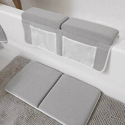 Bath Kneeler Elbow Rest Strength Suction Support Mat Safety Grey Non Slip Baby