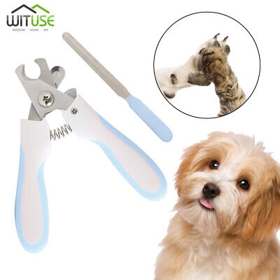 Dog Nail Clipper Pet Cat Rabbit Claw Trimmer Grooming File Kit Small Or Large B