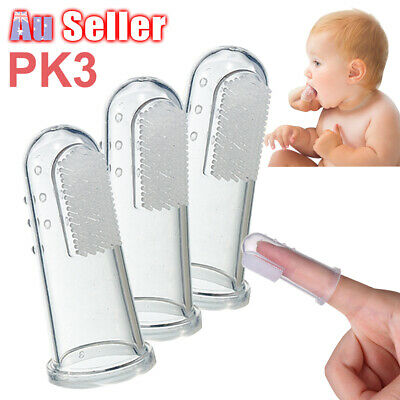 New Baby Training Teeth Brush Kid Toothbrush Finger Clean Silicone Soft Gum