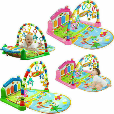3 in 1 Baby Light Musical Gym Play Mat Lay & Play Fitness Fun Piano Girl/Boy US