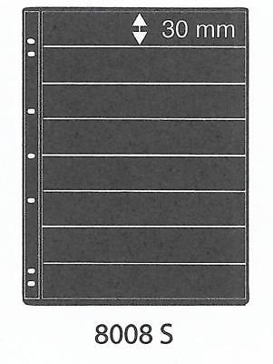 PRINZ ProFil 8 STRIP BLACK STAMP ALBUM STOCK SHEETS Pack of 15 Ref No: 8008S