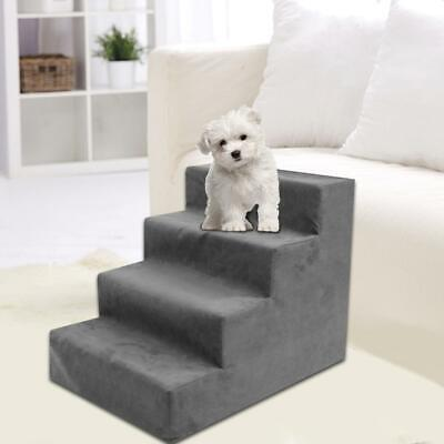 Pet Step 3 Or 4Steps Dog Cat Stairs Ladder Climb Ramp W/Cover Couch Or Bed