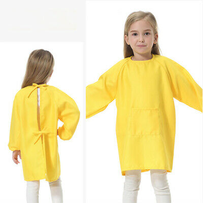 AU Childrens Kids Waterproof Apron Smock Painting Art Craft - Choose Color- Size