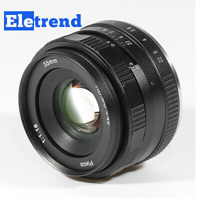35mm F/1.6 Large Aperture HD MC Manual Prime Fixed Lens APS-C for Sony E Mount