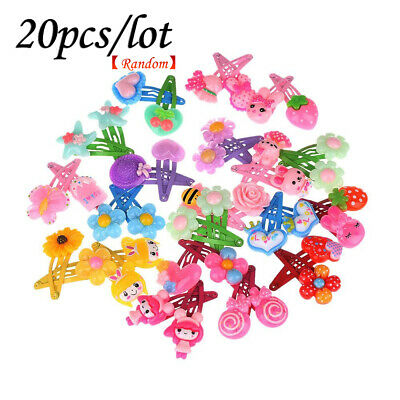 20 Pcs Cute Cartoon Baby Kids Girls Hairpin Barrette Hair Clips Hair Accessories