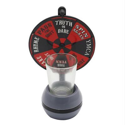 Fun Spinner Spin The Shot Roulette Glass Alcohol Drinking Game Party Gift Toys