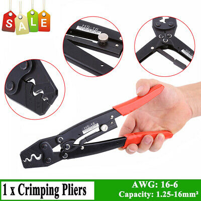 1.25-16mm² Cable Lug Crimper Crimping Tool Bare Terminal Wire Pliers AWG16-6