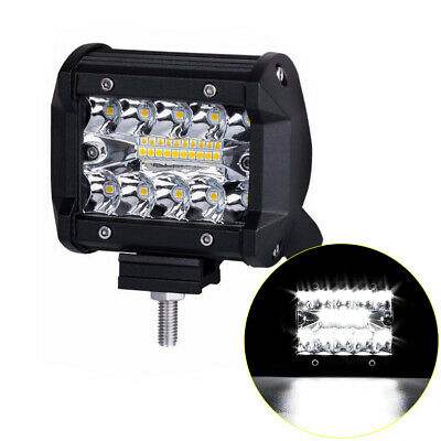 "1PC 4"" inch 200W CREE Fog LED Light Bar SPOT FLOOD 3Row Offroad Work SUV Truck"