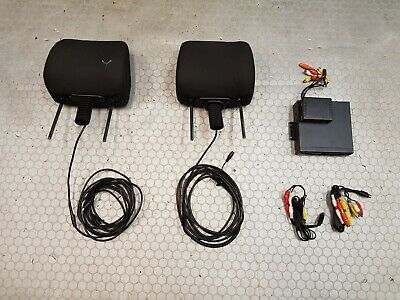 2004-2009 Toyota Corolla Verso Front Headrests DVD Player Unit Screens + Loom