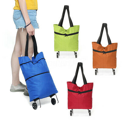 Foldable Shopping Carts Handle Trolley Bag Oxford Luggage Wheels Market