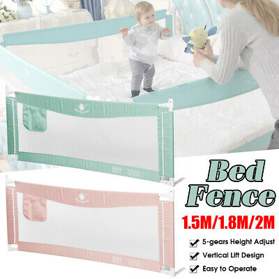 1.5M/1.8M/2M Kid Child Baby Bedguard Toddler Safety Bed Rail Guard Rail