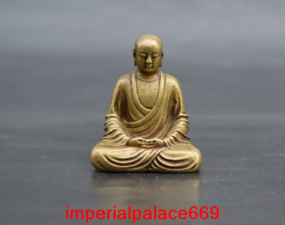 China antique Pure copper solid King of the Inferno Buddha statue