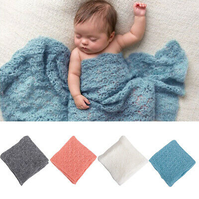 Newborn Baby Infant Stretch Mohair Wrap Cocoon Photo Photography Prop + Headband