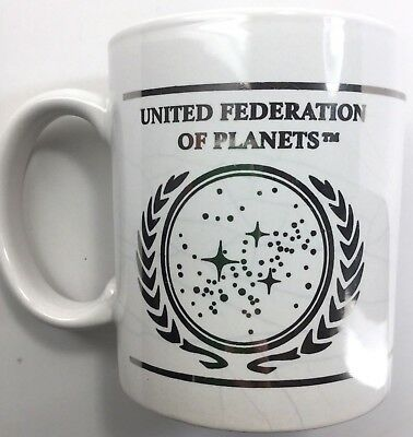 Star Trek United Federation Of Planets 10oz Mug-Silver Foil-Paramount Pic.2002