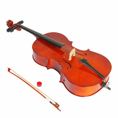 3/4 Acoustic Cellos With Bow Strings Bridge Bag Rosin Natural  Kids Age 11-12