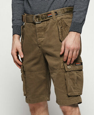 New Mens Superdry Core Cargo Heavy Shorts Jungle Sand