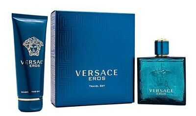 Versace Eros by Gianni Versace Gift Set 3.4 oz EDT Cologne + Shower Gel