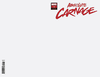 Absolute Carnage Comic Issue 1 Limited Blank Variant Modern Age 2019 Donny Cates
