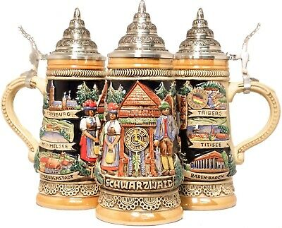 Black Forest Cuckoo Clock German Beer Stein .25L One Mug Made in Germany New