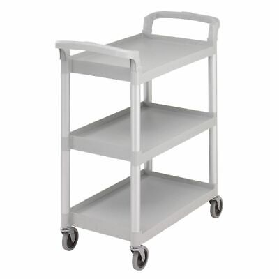 "Cambro BC331KD480 Speckled Gray 32.88"" x 26.25"" Knockdown Service Cart"