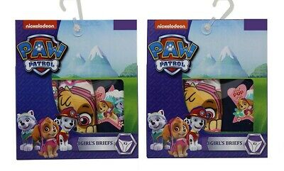 Paw Patrol Girls Briefs Pack of 6 different sizes 100% cotton, Everest, Skye NEW