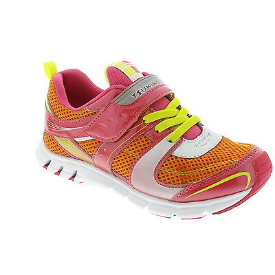 Sneakers Coral Lightweight SOFT Non-TieSneakers Youth Girls Size 5 SALE