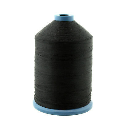 Black Tex 70 Bonded Nylon Thread #69, 6000 Yards Spool For Leather Upholstery
