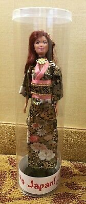 2019 Grant A Wish GAW Journey to Japan Companion Kimono Barbie Doll in Tube