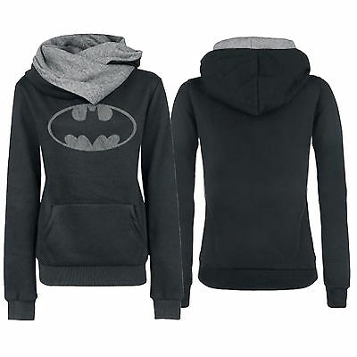 Womens Batman Hooded Sweatshirt Hoodies Ladies Pocket Pullover Jumper Tops Coat