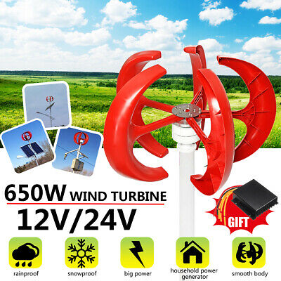 VAWT Lanterns Wind Turbine Generator Vertical Axis With Controller 12V/24V 650W