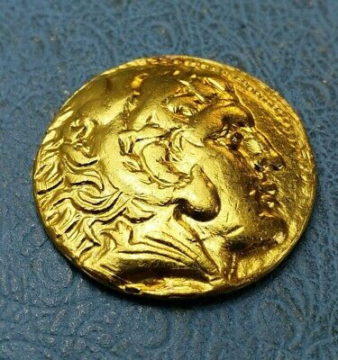 ALEXANDER III the GREAT 307BC Tyre Ancient Gold Greek Coin