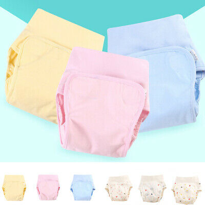 Baby Cloth Diaper Cover Washable Cotton Breathable Newborn Baby Reusable Nappies