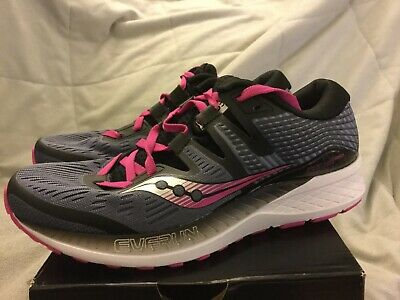 7a68d223 SAUCONY RIDE ISO Women's Running Shoes Grey/Purple S10444-4NEW in BOX Size 7