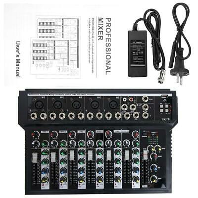 Professional 7 Channel Line Live Mixing Studio Audio Sound Mixer Console EU Plug