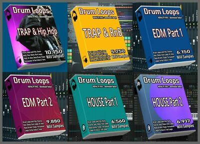 Ultimate Drum Loops Pack Trap Drum Loops HipHop Beats House Drum Loops EDM Drums