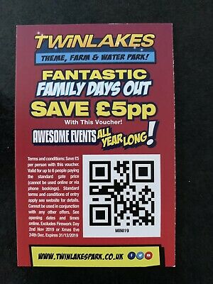 Discounted! Twinlakes Theme Park Save £5 Per Person Up To 6 People Voucher