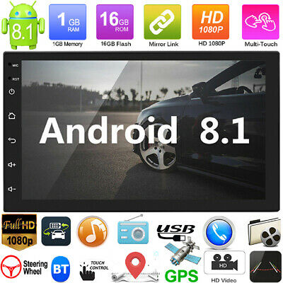 2Din 7in Android8.1 GPS Navigation WiFi Quad Core Car Stereo MP5 Player FM Radio