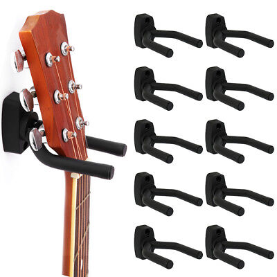 10PCS Guitar Hanger Wall Mount Bass Stand Hook Holder for Ukulele Acoustic Bass