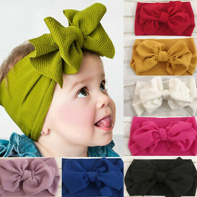Baby Kids Newborn Infant Cute Big Bow Turbon Knot Headband Hair Band Hairband