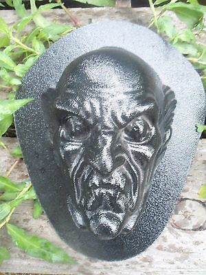 """creepy zombie plastic mold plaster concrete mould 7/"""" x 5/"""" x up to 2.5/"""" thick"""