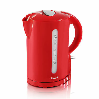 Swan 2200W 1.7 Litre Red Electric Cordless Jug Kettle Fast Rapid Water Boil New